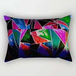 SUNSET ABSTRACTION Rectangular Pillow