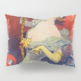 Saxol Ine P Trole De Suret 1900 By Jules Cheret | Reproduction Art Nouveau Pillow Sham