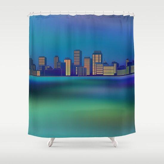 Seaside Cityscape Shower Curtain