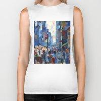 city Biker Tanks featuring City by Emma Reznikova