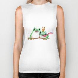 Cartoon Frogs  Biker Tank