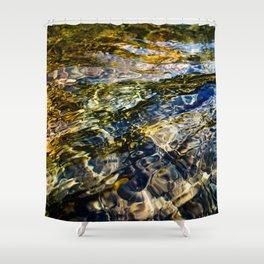 Warm Yuba Ripples Shower Curtain
