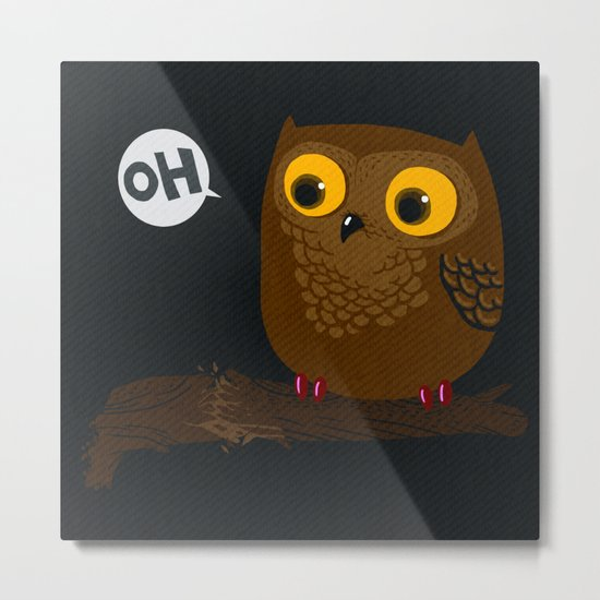 Oh-Owl~ Metal Print
