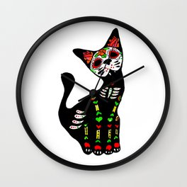 Mexican calvera cat Wall Clock
