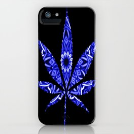 Weed : High Vibrations Blue Bandana iPhone Case