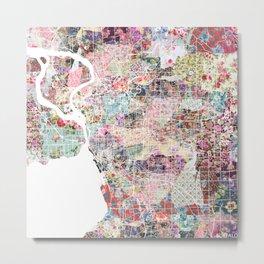 Buffalo map New York Metal Print