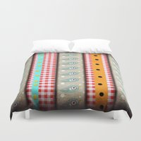 pills Duvet Covers featuring Healthy Happy Pills Birds  by Ruth Fitta Schulz
