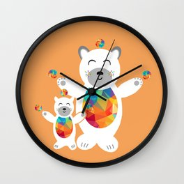 Back To Childhood Wall Clock
