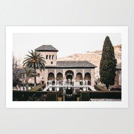 Alhambra Palace at Dusk   Spanish Architecture, Granada   Iconic travel photography wall art, Saige Ashton Prints Art Print