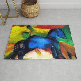 Franz Marc Little Blue Pony Rug