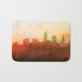 Cleveland, Ohio Skyline - In the Clouds Bath Mat