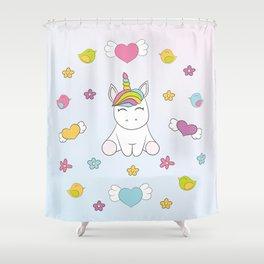 Dreams Unicorn Shower Curtain