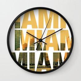 Miami Landscape Wall Clock