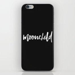 moonchild - black iPhone Skin