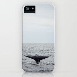 A whale salute iPhone Case
