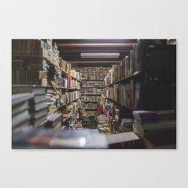 knowledge is power Canvas Print