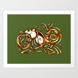 Celtic Rat Art Print