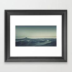Emerald Waves Framed Art Print