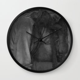 sad angel Wall Clock