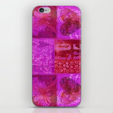 Pink heart flower love painting iPhone & iPod Skin