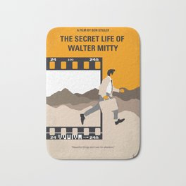 No806 My The Secret Life of Walter Mitty minimal movie poster Bath Mat