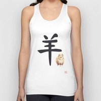 ram Tank Tops featuring Ram by Mary Lenz Art