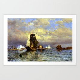 William Bradford Looking out of Battle Harbor Art Print