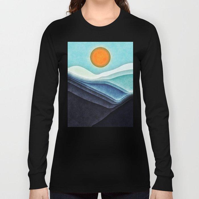 Sunshine Over Blue Mountains Long Sleeve T-shirt