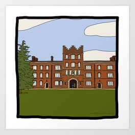 Cambridge struggles: Jesus College Art Print
