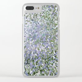 Sage and Lilac Waves Juul Art Clear iPhone Case