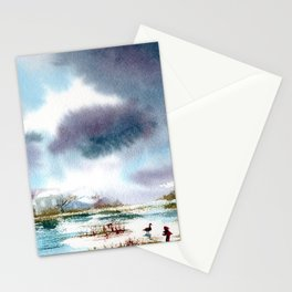 The last goose Stationery Cards