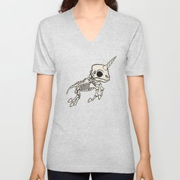 Skeleton Unicorn Unisex V-Neck