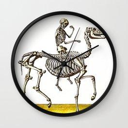 Horse Skeleton & Rider Wall Clock