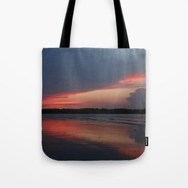 Sunset on the waterway Tote Bag