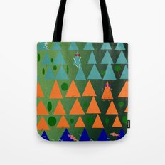 dusk in the valley Tote Bag
