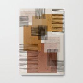 Modern Pattern Metal Print