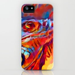 Iguana Watercolor iPhone Case
