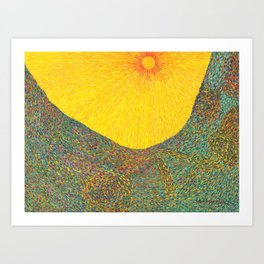 Here Comes the Sun - Van Gogh impressionist abstract Art Print