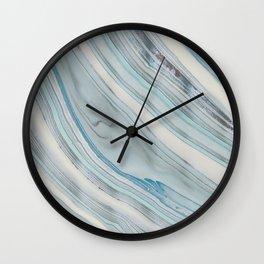 Soft Blue Aqua Marble Elegance Wall Clock
