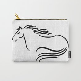 Swift Mare Stylized Inking Carry-All Pouch