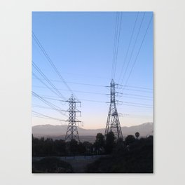 Electric Sky Line Canvas Print
