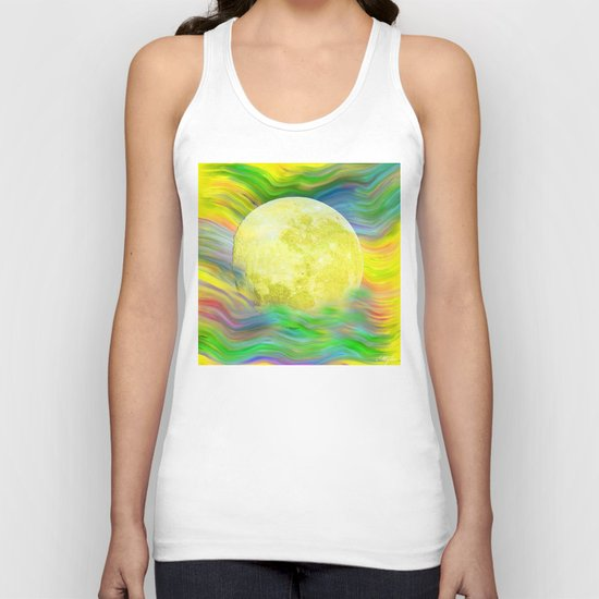 MOON VISIONS AT SEA OIL PAINTING Unisex Tank Top