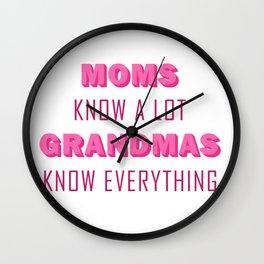 Grandmas Know Everything Wall Clock