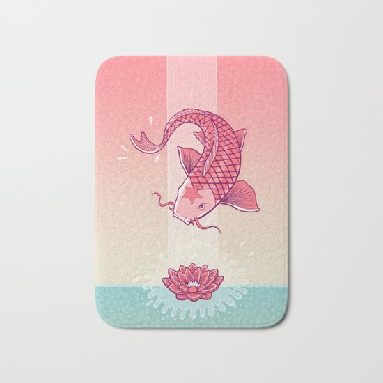 Perseverance // Koi & Lotus Bath Mat