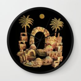 An Old Oriental City by rafi talby Wall Clock