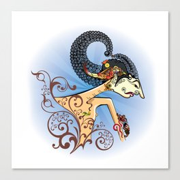 Wayang or shadow puppets Canvas Print