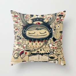 the keeper of the forest Throw Pillow