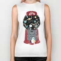 gumball Biker Tanks featuring My childhood universe by I Love Doodle