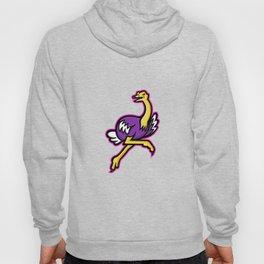 Ostrich Running Mascot Hoody