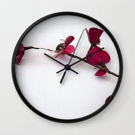 Dainty Red Single Stem Wall Clock